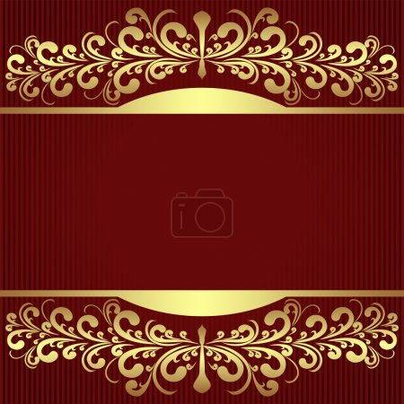 Elegant Background with royal golden Borders.