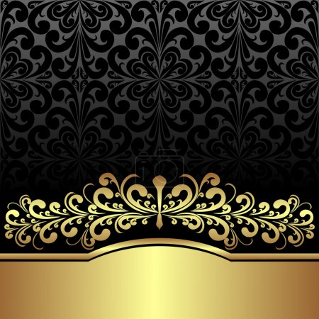 Luxury ornamental Background decorated the Vintage ornament: gold and black.