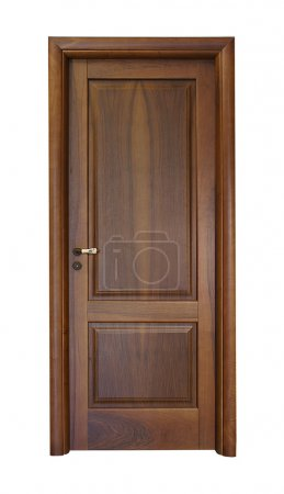Photo pour Image frontale de la porte fermée, isolée sur fond blanc. - image libre de droit
