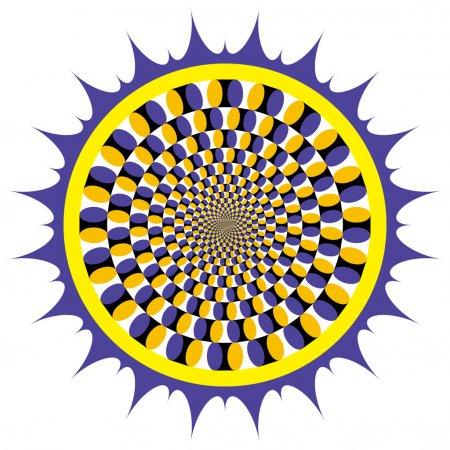 Illustration pour Illusion optique Cycle de rotation - image libre de droit