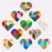 Vector Heart Puzzle pattern