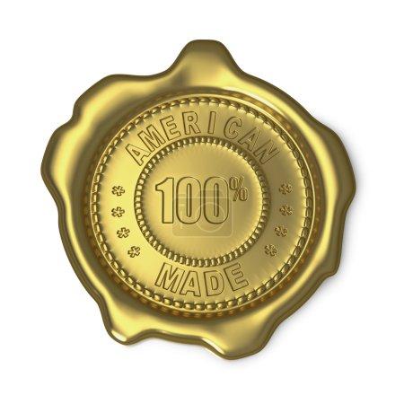 American Made gold wax seal