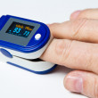 A pulse oximeter used to measure pulse rate and ox...
