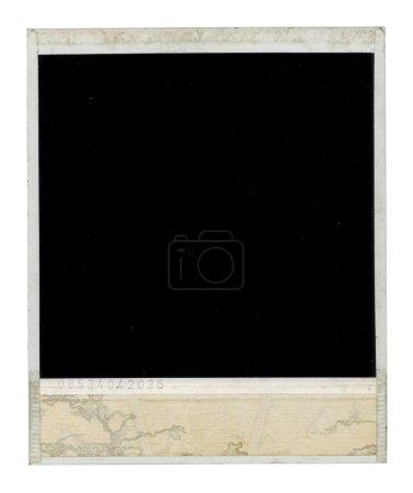 Photo pour Vieux cadre polaroïd sale face arrière - image libre de droit