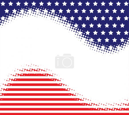 Stars Stripes Haltone Background