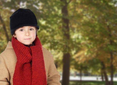 Child warm in a park