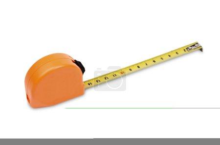 Orange tape measure