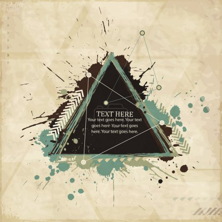 Illustration for Abstract vintage geometric background with triangles - Royalty Free Image
