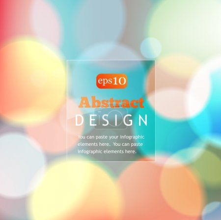 Illustration for Colorful bokeh abstract background with circles of light - Royalty Free Image