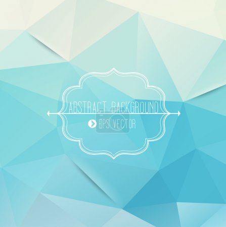 Illustration for Abstract geometric blue background - Royalty Free Image