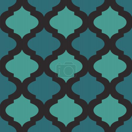 Illustration for Seamless mosaic pattern in arab style with blue tone. - Royalty Free Image