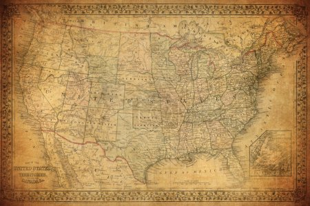 Photo for Vintage map of United States 1867 - Royalty Free Image