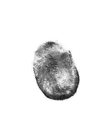 Photo pour Empreinte digitale noire - image libre de droit