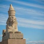 Egyptian sphinx, Saint Petersburg, Russia...
