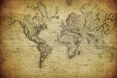 Vintage mapa světa 1814