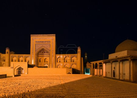 Ancient town of Khiva at night