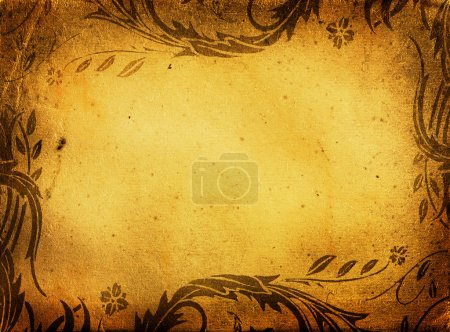grunge floral background with space for text