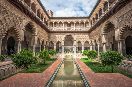 Patio in Royal Alcazars of Seville, Spain