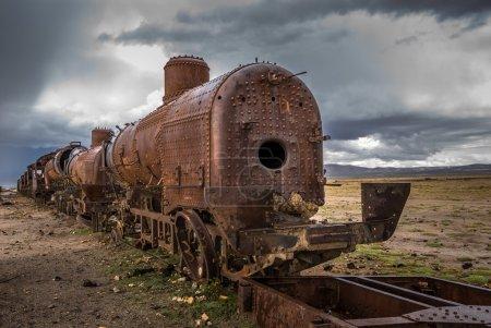 Photo pour Cimetière ferroviaire, Uyuni, Bolivie - image libre de droit