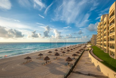 Cancun beach panorama