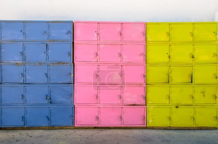 Colorful metal boxes