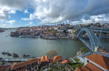 Panorama of Porto with Luis I Bridge, Portugal