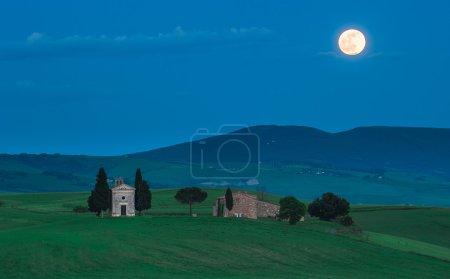 vue panoramique de Toscane, la cappella della madonna di vitaleta