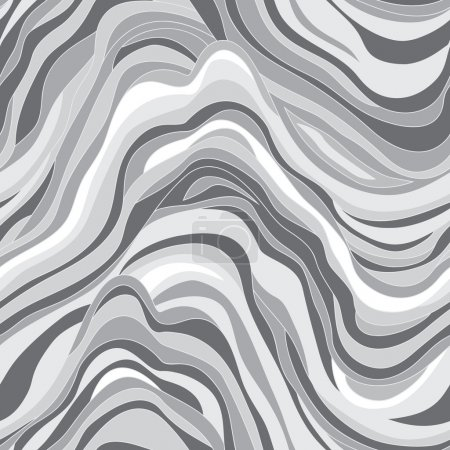 Illustration for Vector seamless texture with waves - Royalty Free Image