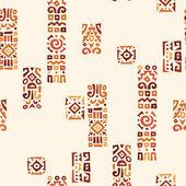 Pozadí s prvky afrického Ornament