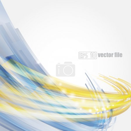 Illustration for Abstract bright blue and gold background Vector - Royalty Free Image