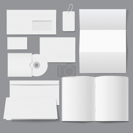 Illustration for Blank Business Corporate Templates - Royalty Free Image