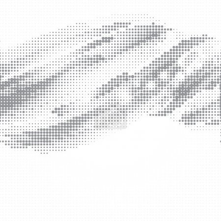 Illustration for Dot halftone abstract vector background - Royalty Free Image