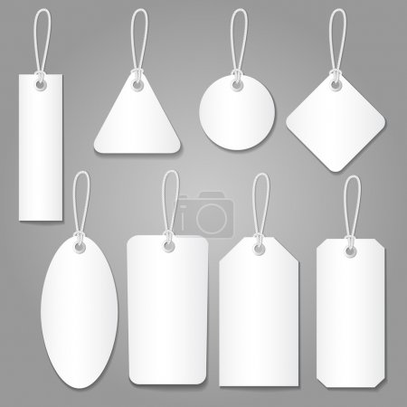 Illustration for Blank labels template price tags set vector - Royalty Free Image