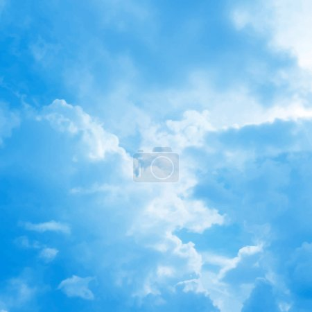 Illustration for Blue cloudy sky vector background - Royalty Free Image