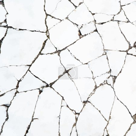 Cracks in the stone surface vector backgruond