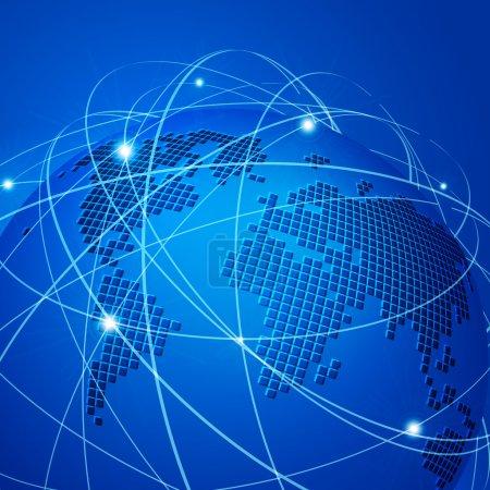 Illustration for Global technology mesh network vector illustration - Royalty Free Image