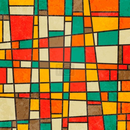 abstract geometric retro colourful background