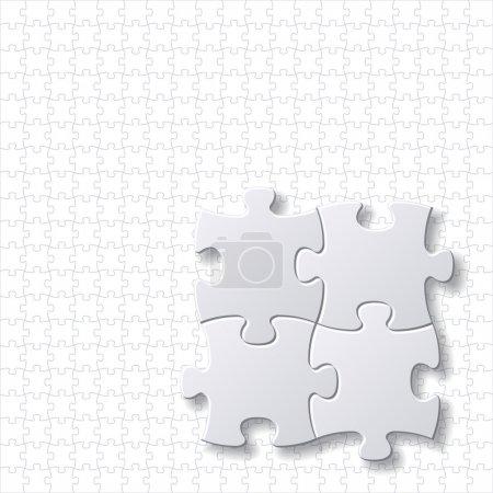 Вектор пустых шаблонов головоломок