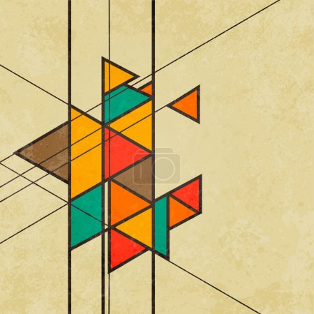 Illustration for Triangular retro abstract background vector file - Royalty Free Image