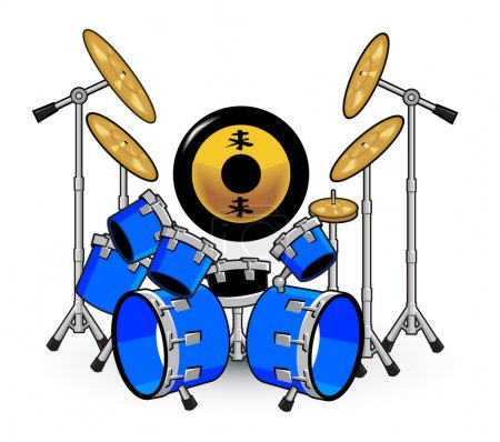 Drums and Music Cartoons