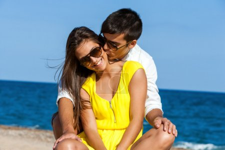 Teen couple sharing time on holidays