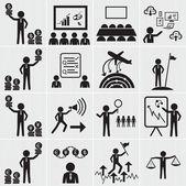 Lidské zdroje, podnikání a řízení sada ikon