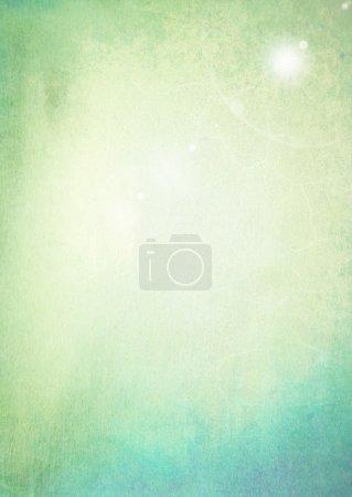 Photo pour Fond texturé abstrait : motifs bleu et vert. Pour la texture de l'art, le design grunge et le cadre vintage papier / bordure - image libre de droit