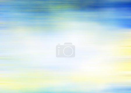 Photo pour Fond marin texturé abstrait : motifs bleus, jaunes et blancs. Pour la texture de l'art, le design grunge et le cadre vintage papier / bordure - image libre de droit