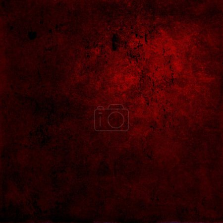 Photo for Abstract red background or paper with bright center spotlight and dark border frame with grunge background texture. For vintage layout design of light colorful graphic art - Royalty Free Image