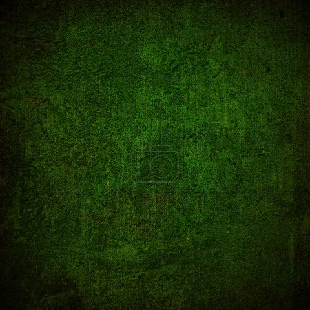 Photo pour Fond ou tissu vert foncé abstrait avec texture de fond grunge. Pour la conception de mise en page vintage d'art graphique coloré léger - image libre de droit