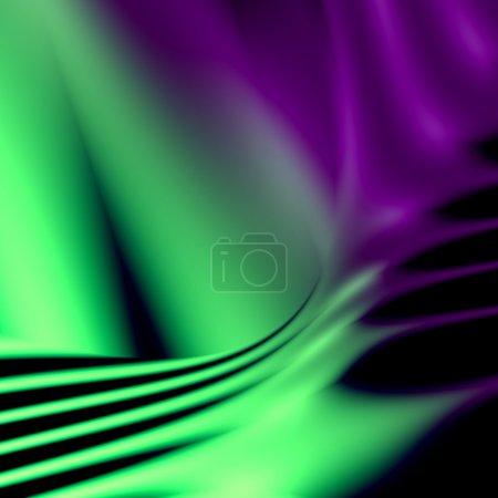 Photo pour Fond futuriste abstrait vert et violet. Pour la conception de mise en page créative, illustrations scientifiques, et modèle Web ou papier peint du site - image libre de droit