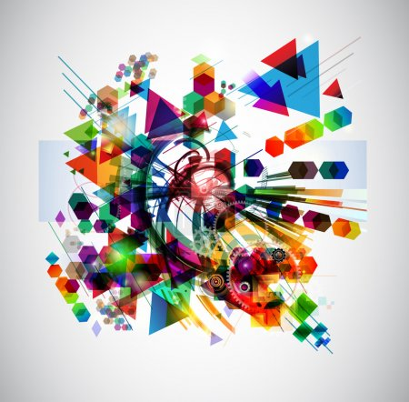 Photo for Abstract background with colorful figures - Royalty Free Image