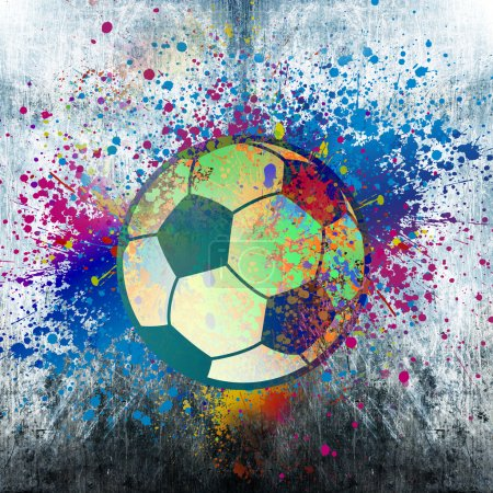 Football with splashes background
