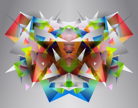 Abstract colorful geometric  background...
